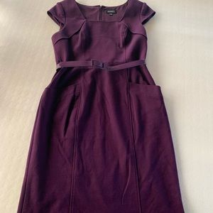 Plum colored day dress